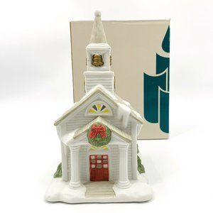 PartyLite The Church Winter Tealight Candle House